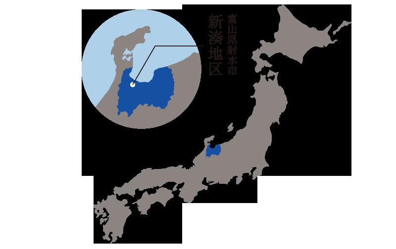 富山県射水市(新湊地区)へのアクセス